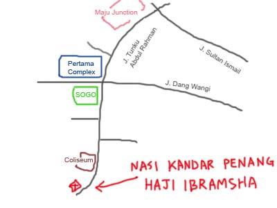 map near Sogo, Kuala Lumpur