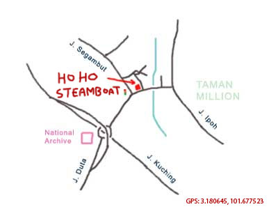 map to hoho steamboat at segambut
