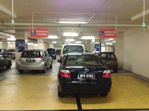 KY Saw - Abuse of accessible parking at Sunway Pyramid