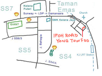 map to Ipoh Road Yong Tow Foo, Kelana Jaya branch