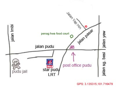 map to Soon Fatt Roasted Goose at Jalan Pasar
