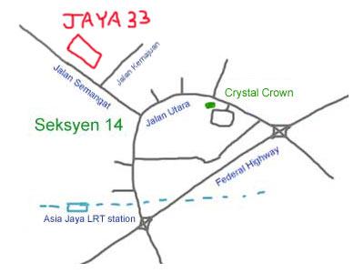 map to Jaya 33