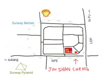 map to Steamboat at Jin Shan Cheng