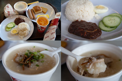 KFC nasi lemak, chicken porridge