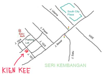 map to Kien Kee at Serdang, Seri Kembangan