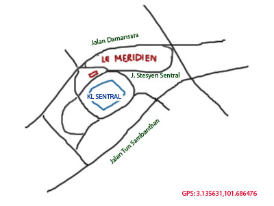 map to Le Meridien