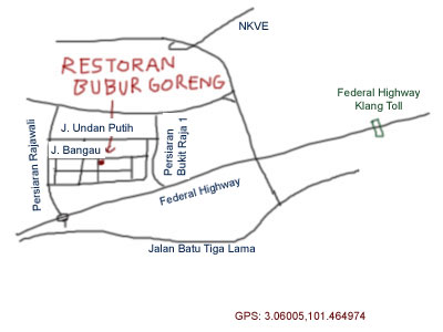 map to Taman Berkeley, Klang