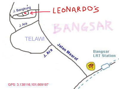 map to Leonardo's Dining Room