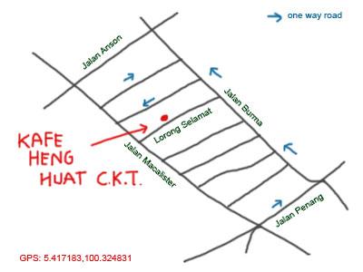 lorong selamat char kueh teow map
