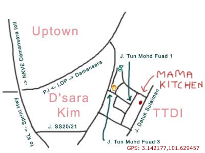 map to mama kitchen, TTDI