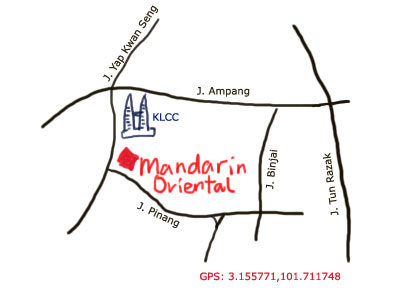 map to Mandarin Oriental KL