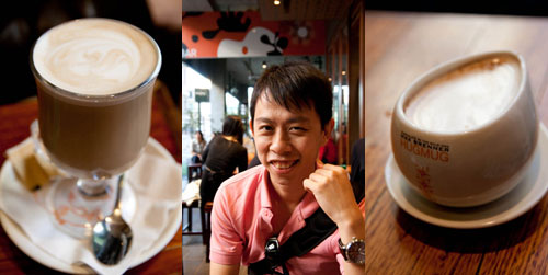 latte and milk chocolate at max brenners