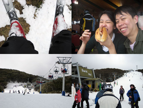 Lousy hot dog at Mount Buller