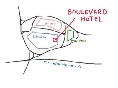 map to Mid Valley Boulevard Hotel