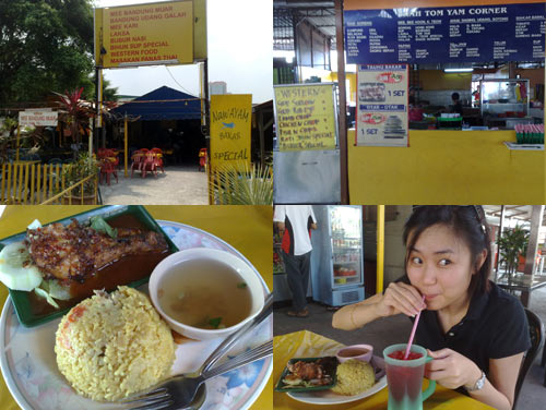 BBQ chicken rice at Kelana Jaya