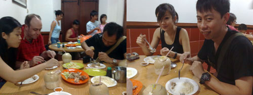chicken rice balls at melaka