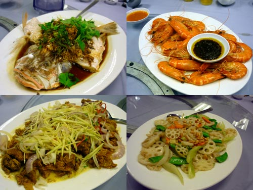 prawn and fish at Pantai Seafood