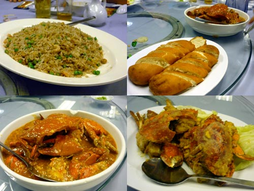 fried rice and crab Pantai Seafood
