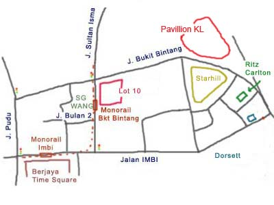 KL Pavilion Map