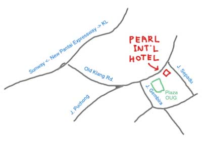 map to Pearl International Hotel
