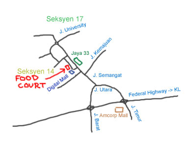 map to digital mall at seksyen 14, petaling jaya