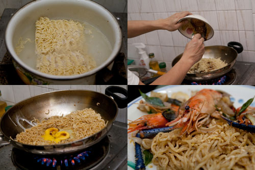 maggie migoreng pedas with prawns
