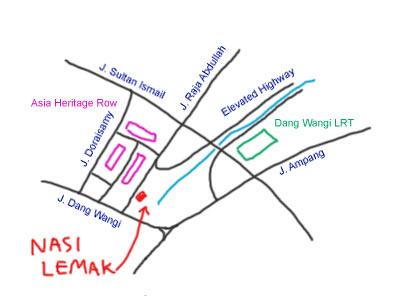 map to Nasi Lemak Jalan Raja Abdullah