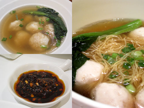 wantan soup, fish ball noodle
