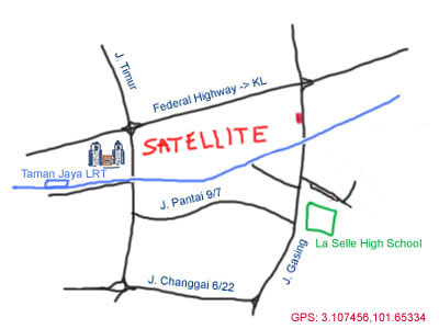 Map to Satellite Chicken Rice Restaurant