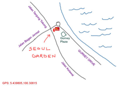 map to seoul garden at gurney drive