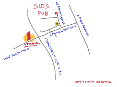 map to Sid's Pub