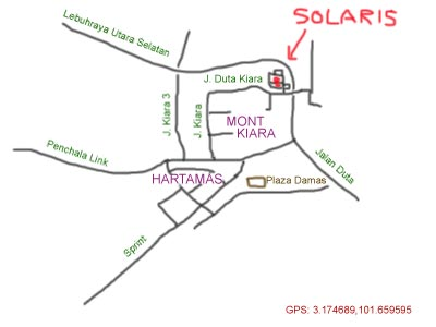 map of Solaris, Mont Kiara