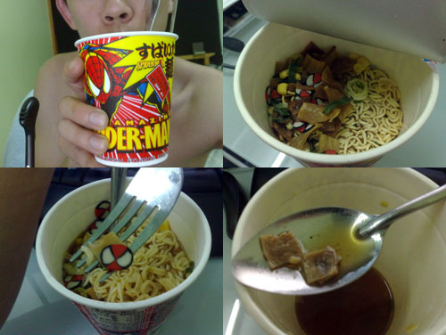 The amazing spider-man instant noodle