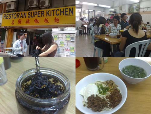 Super Kitchen Chili Pan Mee opposite Kin Kin