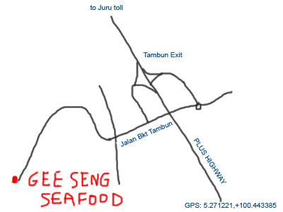 map to tambun seafood