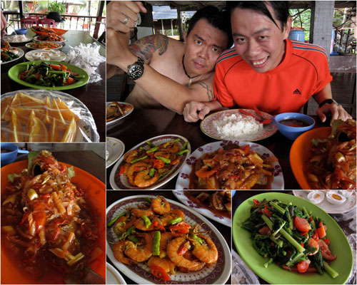 awesome lunch at Tenggol Beach Resort