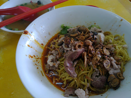 teow chew pork noodle at Ponggol Nasi Lemak Centre, Singapore
