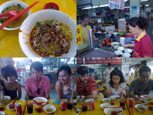 teow chew pork noodle, haze, KY, FA, Gareth, Kim, Cheng Leong
