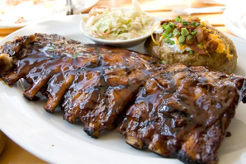 Baby back ribs at Tony Romas, Bangkok