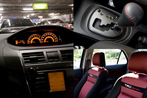 Toyota VIOS TRD Sportivo interior: meter cluster, seats, gear