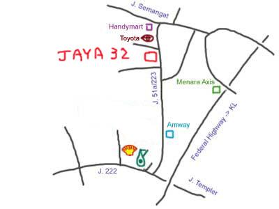 map to Jaya 32