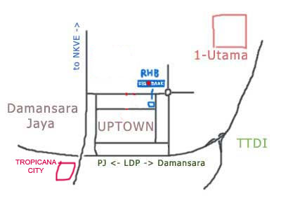 Map to Tropicana City Mall