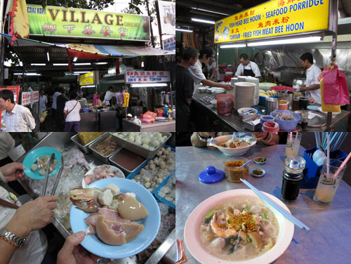 village coffee shop fish head noodle, weld quay, penang