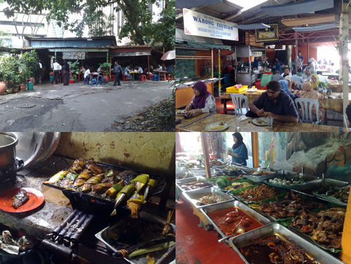 ikan bakar at Warong Kak Fauziah