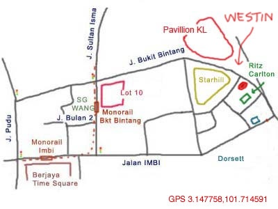 map of Westin KL