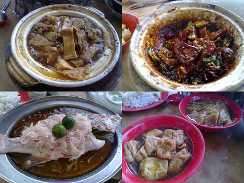 bak kut teh, dry bak kut teh, steamed fish, taufu