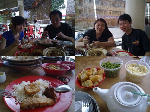 Carol, Horng, Suan, and KY at Yap Chuan Bak Kut Teh, Puchong