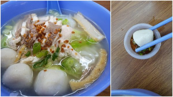 Penang style kuih teow soup with homemade fishball