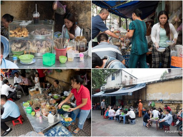 Vietnamese Duck Porridge stall by Chu Manh Trinh road
