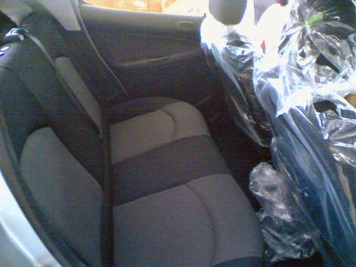 Naza Peugeot 206 Bestari interior rear seat